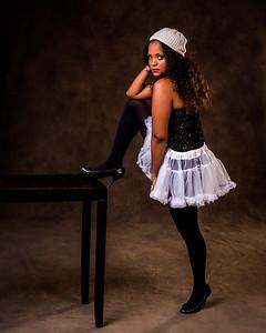 Jeune femme en ballerine.