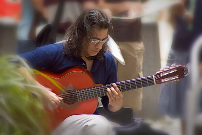 Guitariste sur la rue.