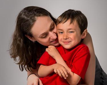Mère avec son fils.