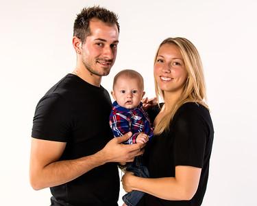 Portrait de jeune famille.