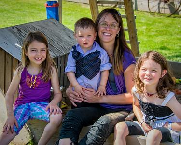 Portrait mère et enfants.