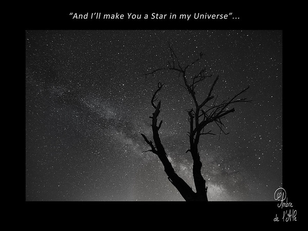 """I'll make You a Star in my Universe"""