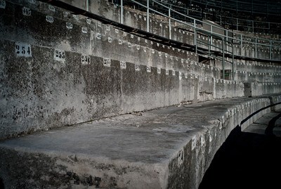 Old terrace numbering in Arles arena.