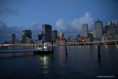 Brisbane after sunset