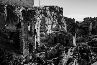 Ruins of the fortress in Baux de Provence, France