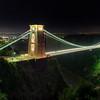 Clifton Suspension Bridge by night, Bristol, UK