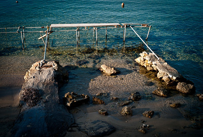 Old and fragile dock in Cap d'Antibes