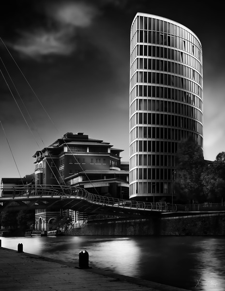 Valentine Bridge and Eclipse Building, Bristol, UK