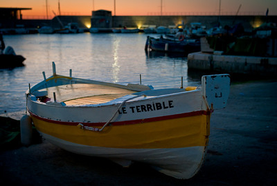 Fishing boat in port of Cagnes sur Mer, France