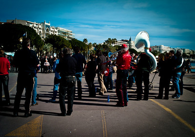 Musicians on La Croisette in Cannes, France