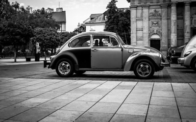 Old VW Beetle in Old Warsaw, Poland