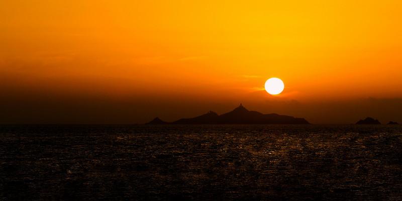 Les Îles Sanguinaires. Corse.