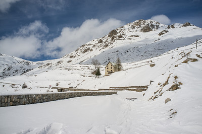 Snow nearing the area of Col de la Bonnette