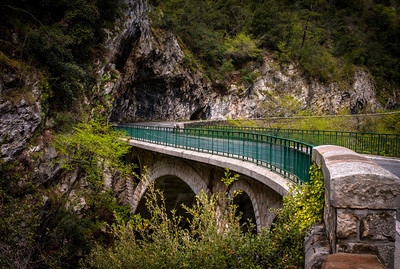 Bridge in area of Saut-du-Loup, France