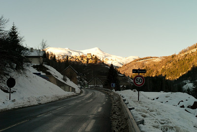 On the road to Valberg, France