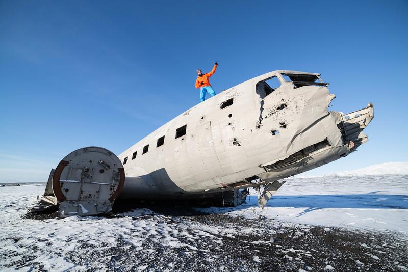 Crashed Douglas DC3, no injuries, 1973