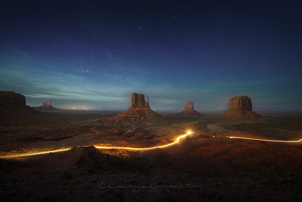 Monument after dark