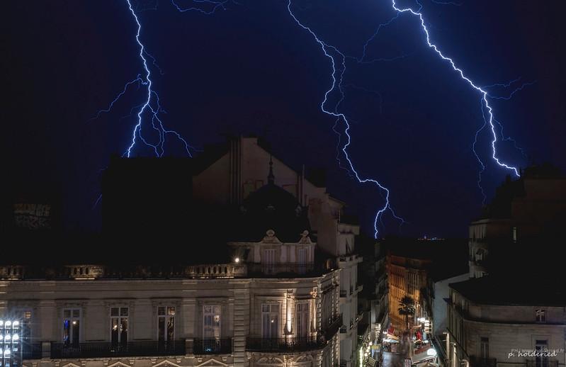 Orgae et éclairs sur Montpellier