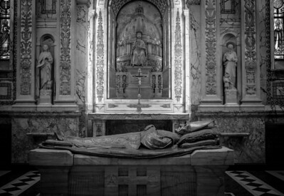Montreal, Black and white, Marie-Reine du Monde, Cathedral