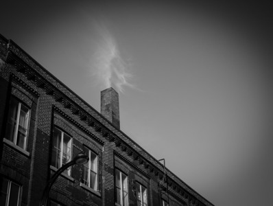 Montreal, Black and white, Cloud, Smoke, Chimney, Building