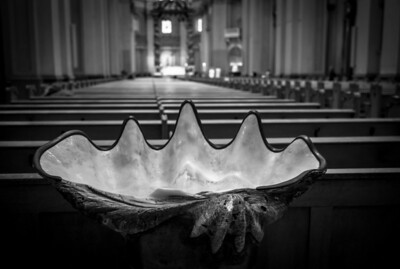 Montreal, Black and white, Marie-Reine du Monde, Cathedral, Oyster