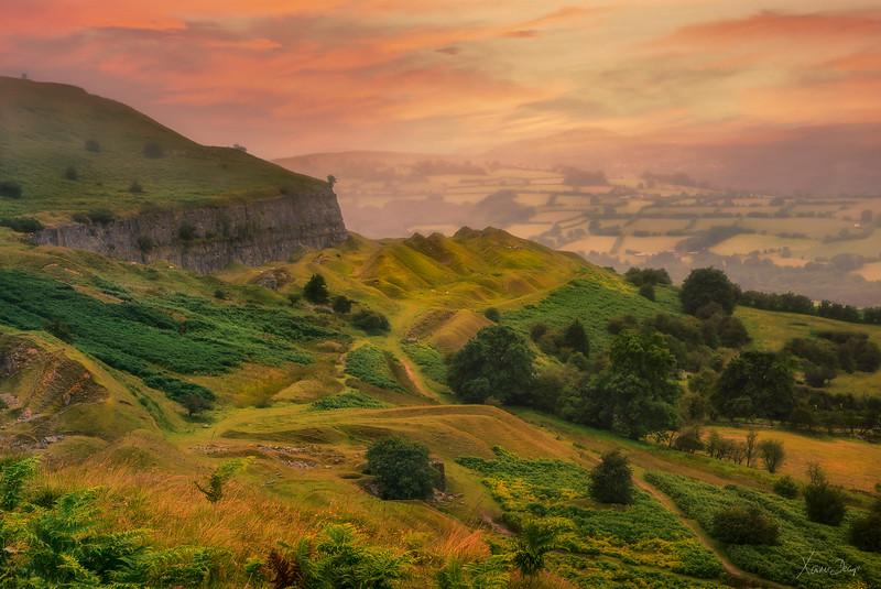 Llangattock Hills, Wales, Brecon Beacons.