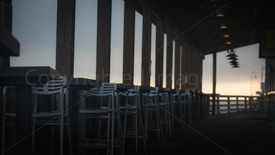 Morning in an empty bar