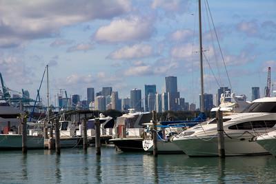 Marina in Miami Beach
