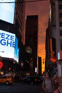 Sunset in New York