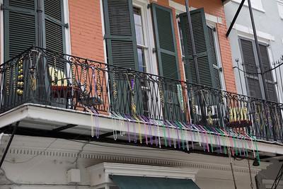 Decorated balcony