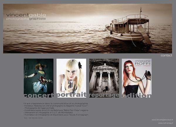 Vincent Gable  Fondateur, rédacteur et photographe du Magazine CULT.   http://www.vincentgable.fr/  Site en français.