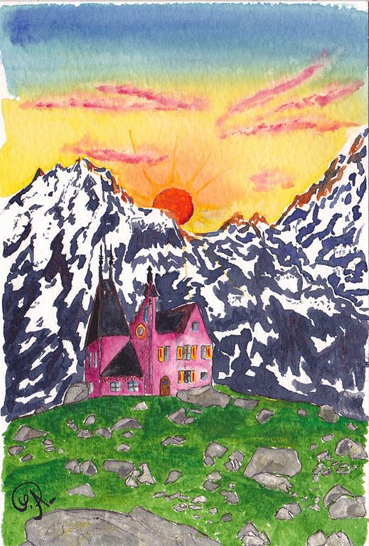 Imagination... et oui, même en ville, je rêve de montagne.
