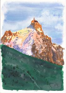 L'Aiguille du Midi  Montagne de lumière.