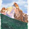L'Aiguille du Midi<br /> <br /> Montagne de lumière.