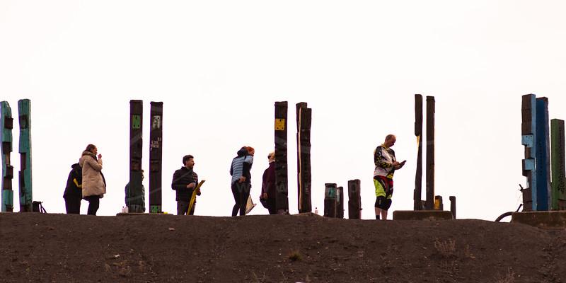 "Installation ""Totems"" - Agustín Ibarrola"