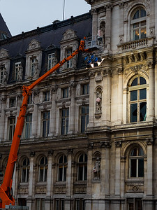 les travaux à l'Hôtel de Ville