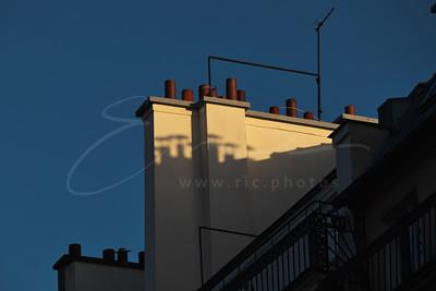 les cheminées au soleil | chimneys in the sun