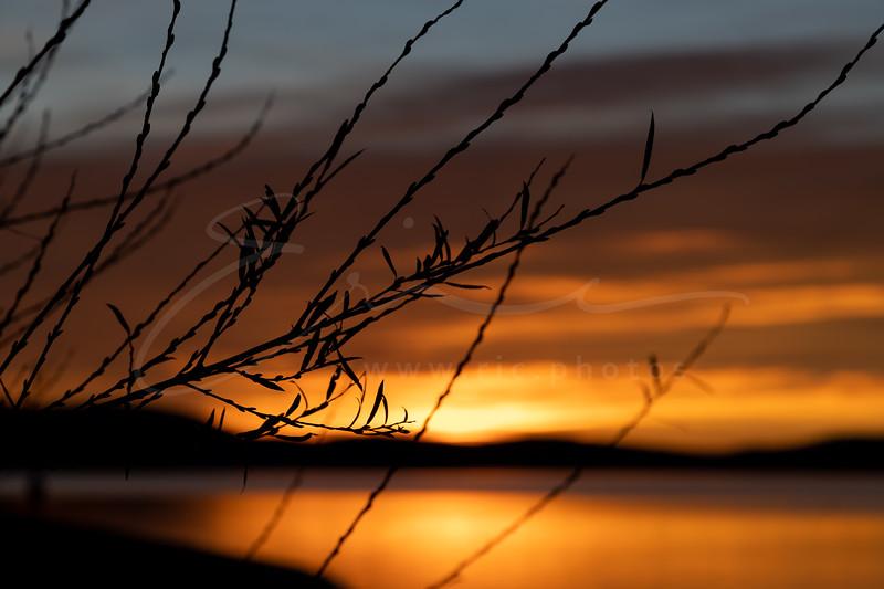 sunset at lake Sainte-Croix | le coucher du soleil au Lac de Sainte-Croix