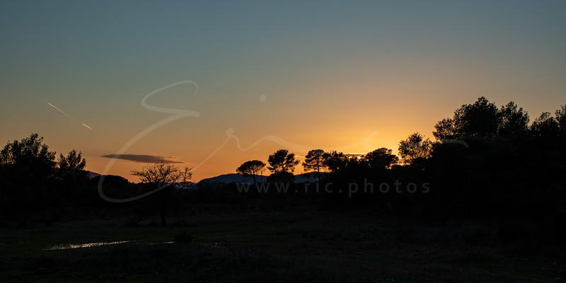 le coucher du soleil en Provence | sunset