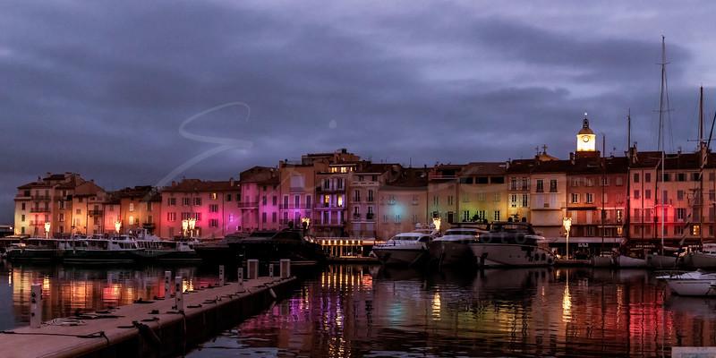 Saint Tropez déserté en raison de Covid-19