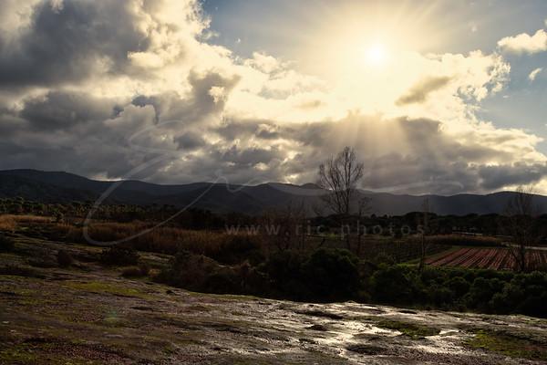 le soleil chasse la pluie