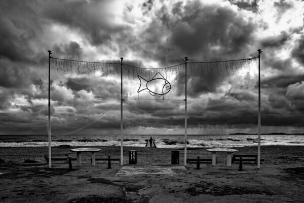 La Croix Valmer - début janvier à la plage