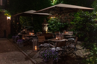 a terrace in the night