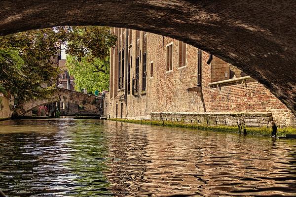 en bateau à Bruges