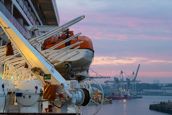 at the port of Hamburg, Germany