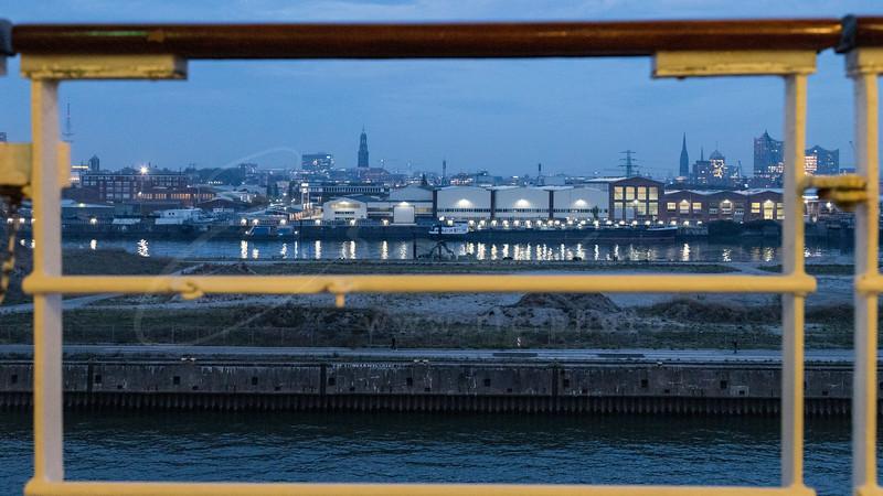 the port of Hamburg - St. Michael's Church - Elbphilharmonie
