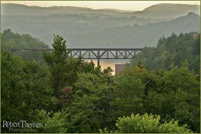 Pont de chemin de fer, Shawinigan, Qc