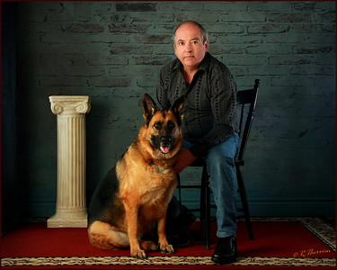 Un homme et son chien