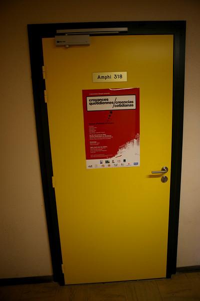 Table Ronde avec les Artistes à l'Institut d'Etudes Politiques de Strasbourg, Amphi 318