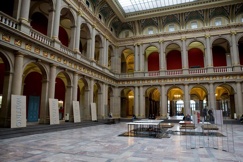 Un des lieux de l'exposition, le Patio du Palais Universitaire de Strasbourg